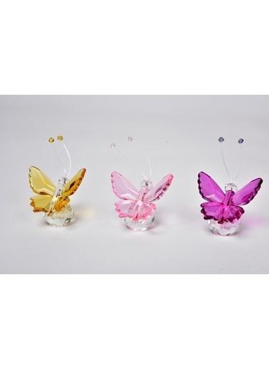 Seta Bianca Shıne Kristal Kelebek 3Lü Mıx 5.5 Cm Renkli